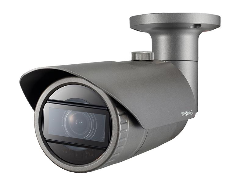 QNO 7080R side - كاميرا سامسونج خارجي اي بي 4 ميجا بيكسل عدسة فاريفوكل بمحرك 2.8 : 12 ملم